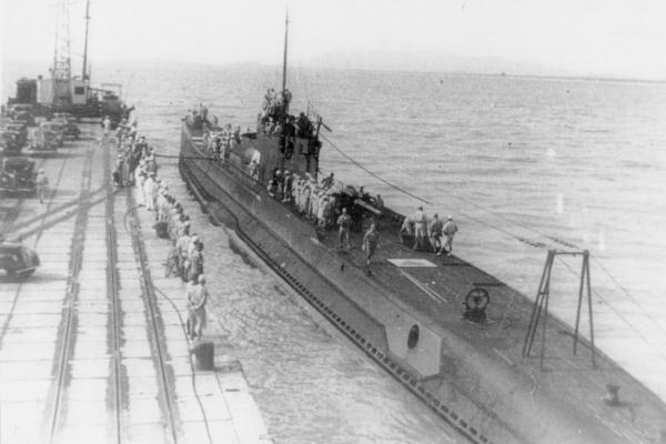 Japanese submarine I-10 at Penang port in 1942