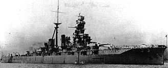 Kongō-class battlecruiser - Hiei in 1933, as a training ship