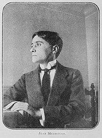 Jean Metzinger, portrait photograph, published in Les Peintres Cubistes, 1913.jpg