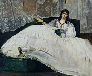 Jeanne Duval - Duval as Baudelaire's Mistress, Reclining by Édouard Manet
