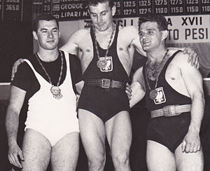 Jim George (weightlifter) - Jim George, Ireneusz Paliński and Jan Bochenek at the 1960 Olympics