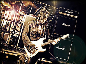 Joe Stump - Joe Stump performing with Raven Lord at R-Mine Metalfest, Belgium in 2013