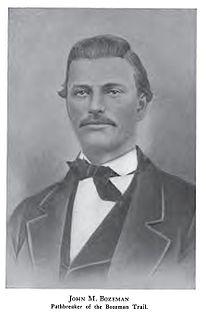 John Bozeman American pioneer in Montana (1837-1867)