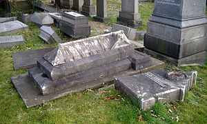 John Hulley - John Hulley's grave as found in February 2008