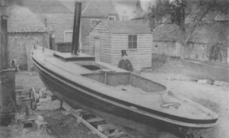 John I. Thornycroft & Company - Thornycroft with his first boat, the Nautilus.