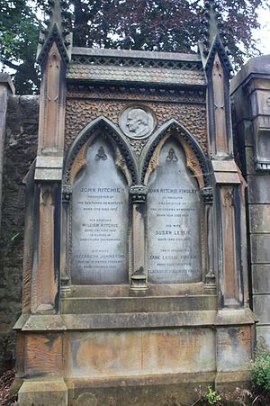 John Ritchie (newspaper owner) - John Ritchie monument, Dean Cemetery
