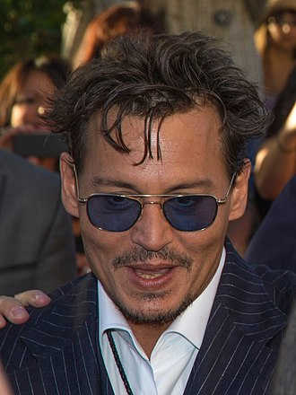 The Lone Ranger (2013 film) - Image: Johnny Depp, The Lone Ranger premiere at Disneyland, 2013