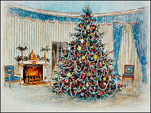 Christmas card - President Johnson's 1967 White House Christmas card