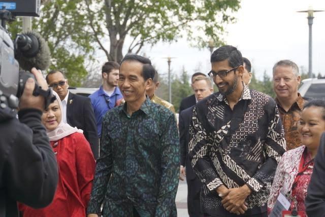 Jokowi and Sundar Pichai Googleplex