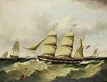 Joseph Heard - The inward bound Liverpool barque 'John Tomkinson', 1840.jpg