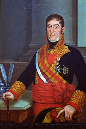 Juan Ruiz de Apodaca, 1st Count of Venadito - Ruiz de Apodaca as viceroy of New Spain.