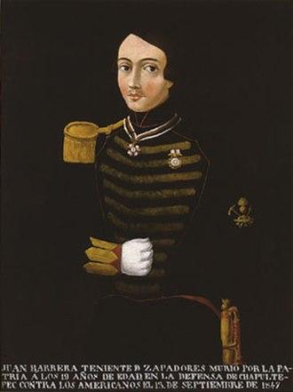 Niños Héroes - Juan de la Barrera