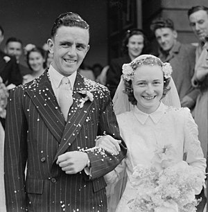 June Schoch - Schoch with her husband Ronald Clere in 1950
