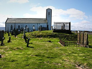 St. Patrick's Church, Jurby - Image: Jurby church geograph.org.uk 779024