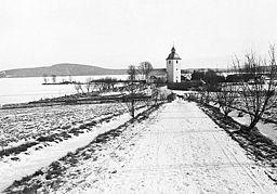 Köla kirke omkring 1930