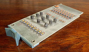 PDP-10 - Flip Chip from a DEC KA10, containing 9 transistors, 1971