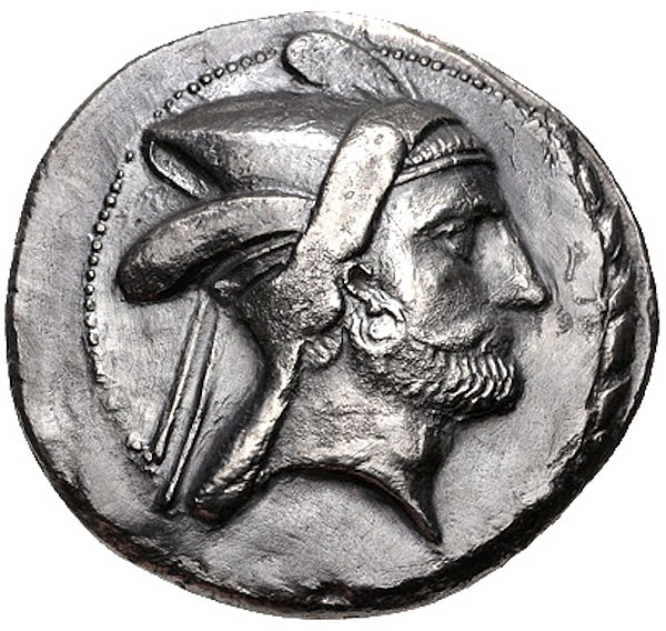 Bagadates I (Minted 290-280 BC) was the first native Seleucid satrap to be appointed. KINGS of PERSIS. Bagadates Early 3rd century BC (obverse).jpg