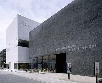 Kunstmuseum Liechtenstein - Image: KML HAF aussen vom Staedtle Barbara Buehler