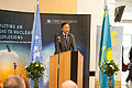 Kairat K. Abdrakhmanov, Permanent Representative of Kazakhstan to the UN in Vienna, at the opening of the ATOM Project Exhibition in the Vienna International Centre on 28 October 2013 (10537809604).jpg