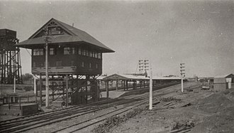 Kalgoorlie railway station - Eastern end of the station in November 1930