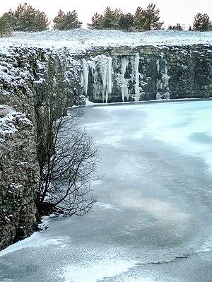 Furillen - Image: Kalkbrott med is på Furillen