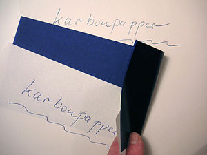 Carbon copy - A copy made with carbon paper