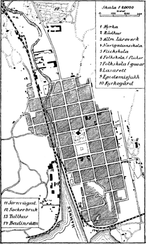 Karlshamn - Old map of Karlshamn