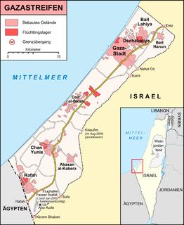 Küstengebiet am östlichen Mittelmeer zwischen Israel und Ägypten