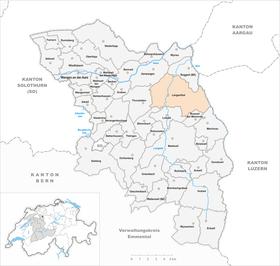 Karte von Langenthal