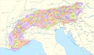 karte alpen Alpen – Wikipedia
