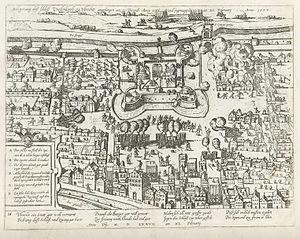 Vredenburg Castle - Image: Kasteel Vredenburgt 1577 2