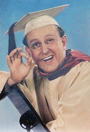 "Kay Kyser - Kyser as the ""Ol' Perfessor"" in 1942"