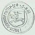 Kazimier Jagajłavič, Pahonia. Казімер Ягайлавіч, Пагоня (1454, 1930).jpg