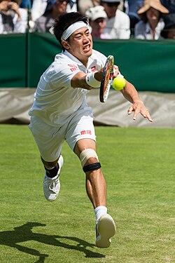 Kei Nishikori 1, Wimbledon 2013 - Diliff.jpg