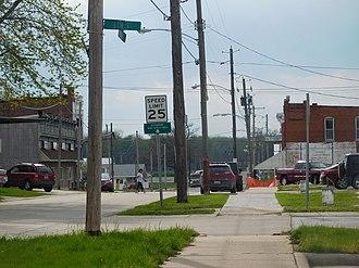 Keithsburg, Illinois - Downtown Keithsburg in April 2017