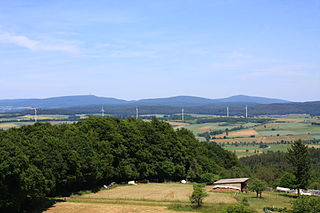 West Hesse Highlands mountains in Germany