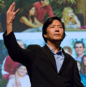 Ken Jeong at a panel for Community at PaleyFes...
