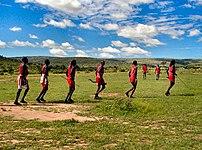 Hunters in Kenya.