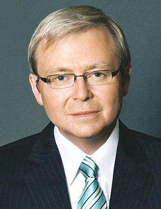 2006 Australian Labor Party leadership spill - Image: Kevin Rudd official portrait