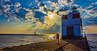 Kewaunee Pierhead Light lighthouse in Wisconsin, United States