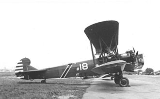United States Army Air Corps -  B-6A of 1st Bomb Squadron, 9th BG, 1935. The dual stripes on the fuselage denote the aircraft of the squadron commander.