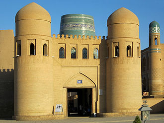Khivan campaign of 1873 - West Gate of Khiva