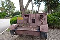 Kibutz Yagur Slick. A small British armored carrier by the entrance. Front view.jpg