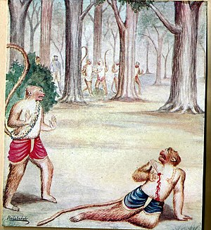 Vali (Ramayana) - Killing of Vali Monkey