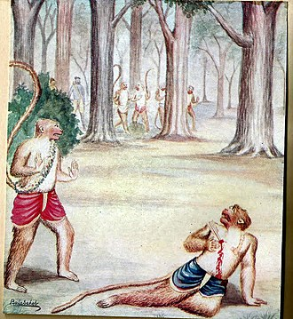 Vali (Ramayana) - Killing of Vali Monkey