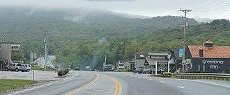 Killington, Vermont - Downtown Killington on U.S. Route 4