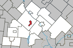 Location within Le Val-Saint-François RCM.