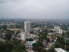 Vue de Kinshasa depuis le CCIC à Gombe