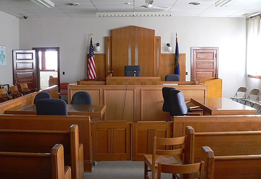 Knox County Courthouse (Nebraska) courtroom 1