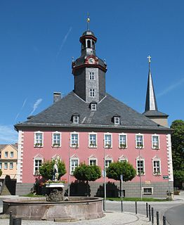 Kölleda Place in Thuringia, Germany